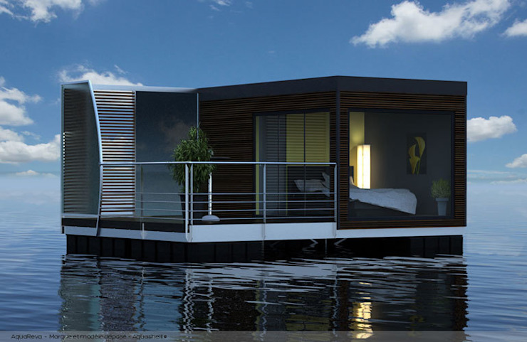 AQUASHELL Modern Houses by Floating Habitats T/A AQUASHELL Modern