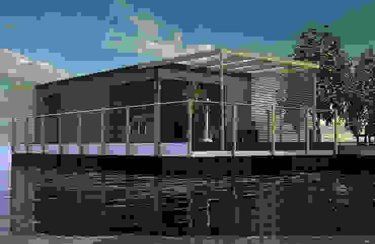 Houses by Floating Habitats T/A AQUASHELL, Modern