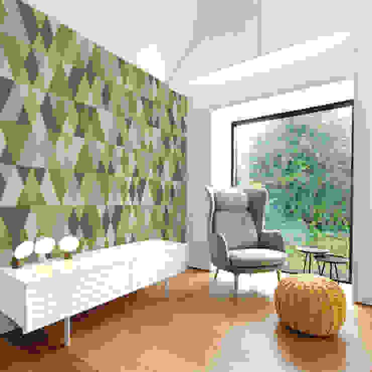 Triangles: modern  by Tektura Wallcoverings, Modern