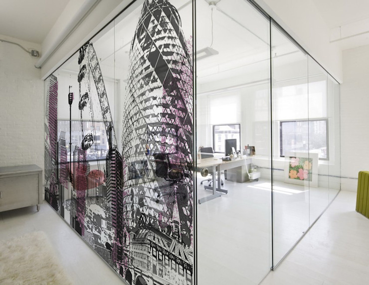 Cityscapes - london montage Tektura Wallcoverings Offices & stores