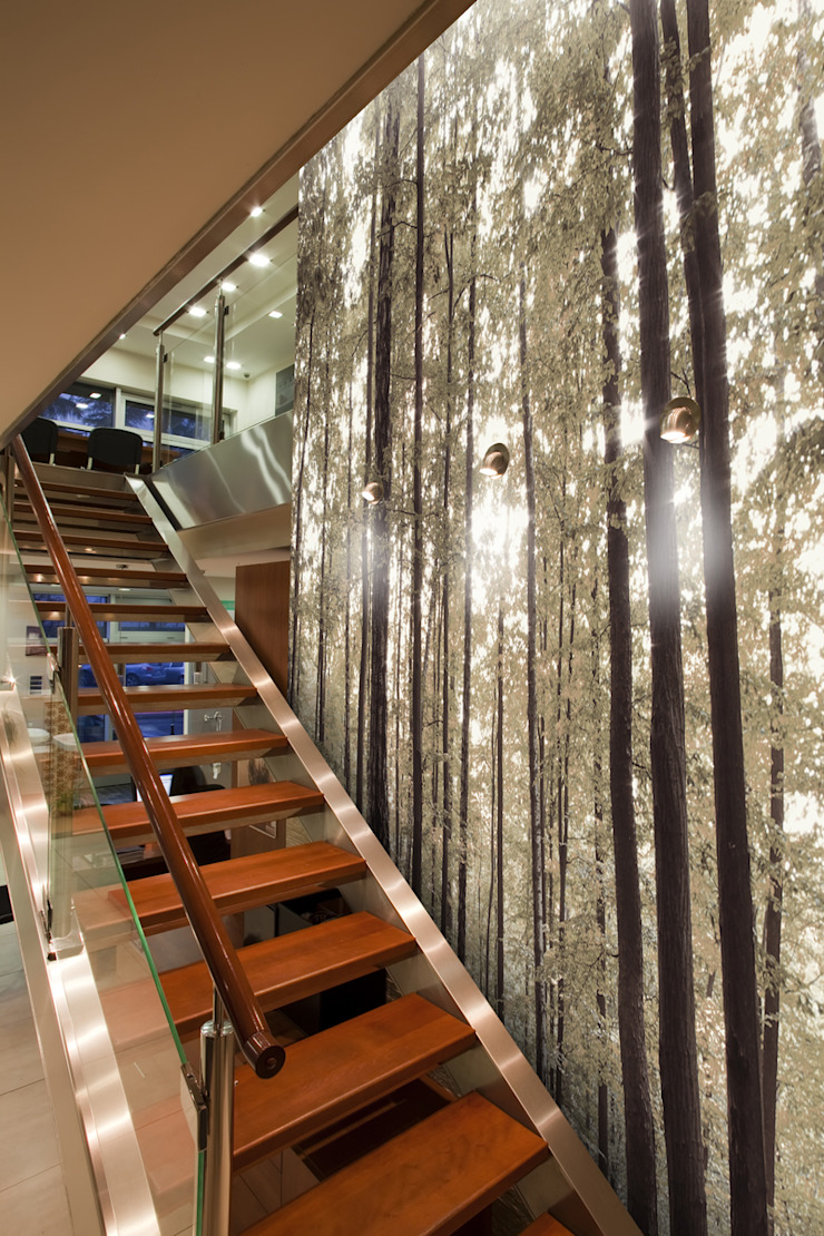 Green Trees: country  by Tektura Wallcoverings, Country