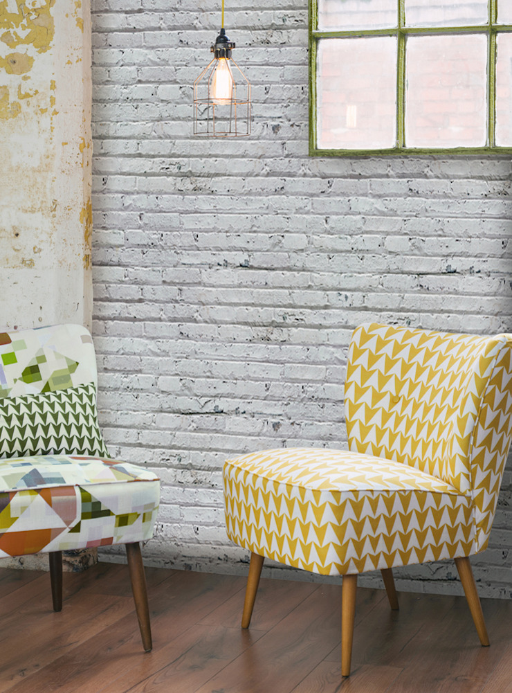 White Brick: industrial  by Tektura Wallcoverings, Industrial