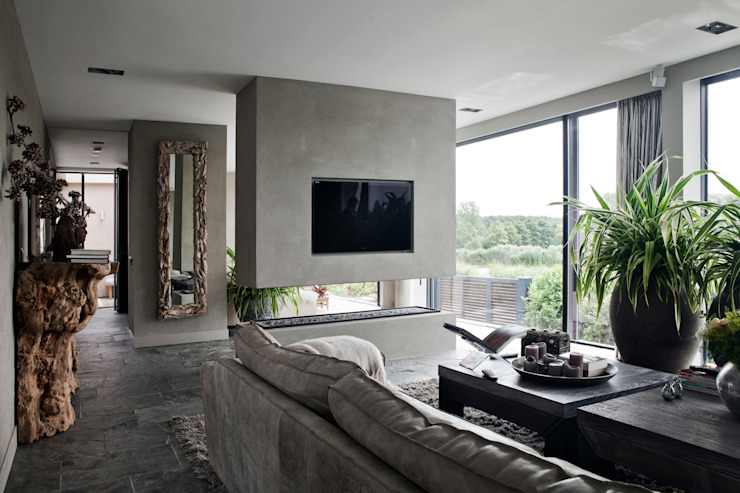 Modern Living Room by Studiozwart Architecten BNA Modern