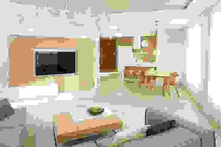 Mieszkanie : styl , w kategorii Salon zaprojektowany przez Bm2 pracownia architektury,