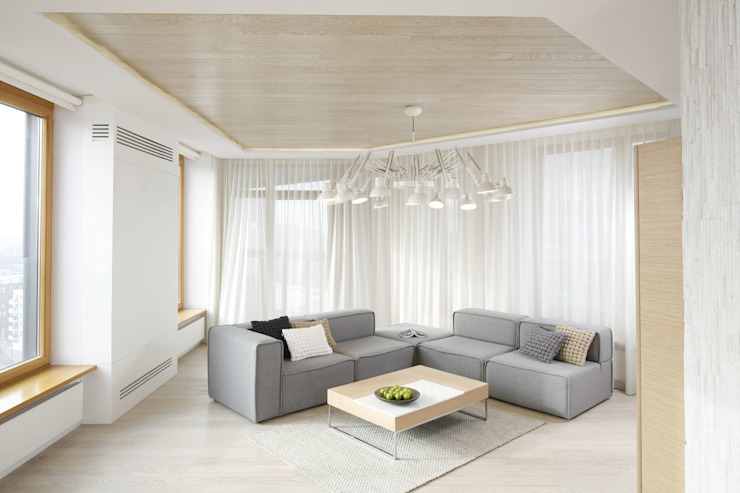 Mieszkanie Nowoczesny salon od Bm2 pracownia architektury Nowoczesny