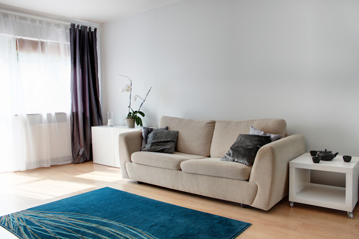 Mieszkanie po Home staging'u Nowoczesny salon od Studio projektowe SUZUME Nowoczesny