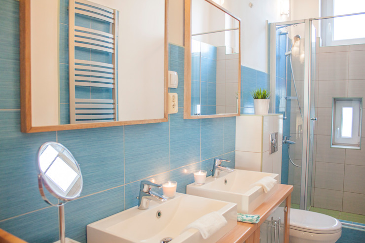 Mieszkanie w Szczecinie po Home staging'u Skandynawska łazienka od Studio projektowe SUZUME Skandynawski