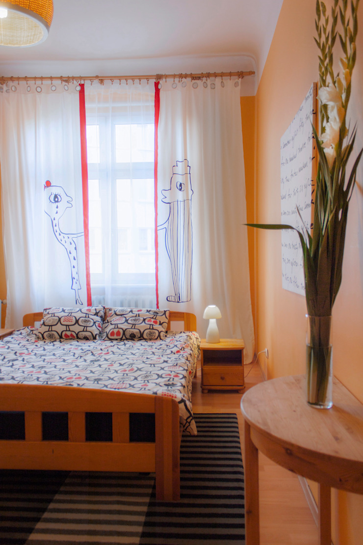 Mieszkanie w Szczecinie po Home staging'u Eklektyczna sypialnia od Studio projektowe SUZUME Eklektyczny