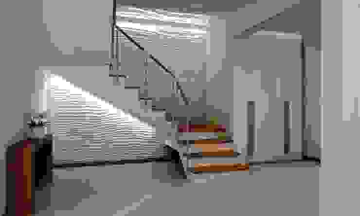 Couloir, entrée, escaliers modernes par ZAWICKA-ID Projektowanie wnętrz Moderne