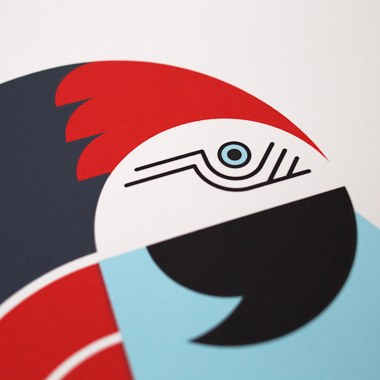 Parrot Screen Print: modern  by The Lost Fox, Modern