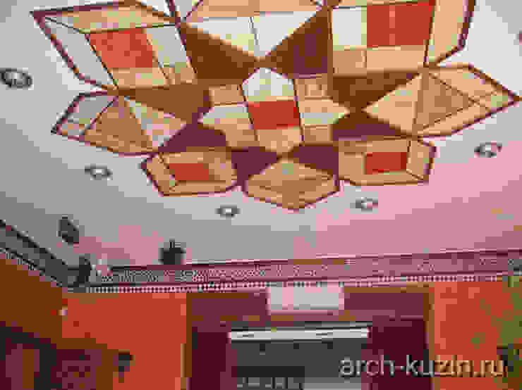 Коттедж под Троицком Медиа комнаты в эклектичном стиле от Архитектор Михаил Кузин Эклектичный