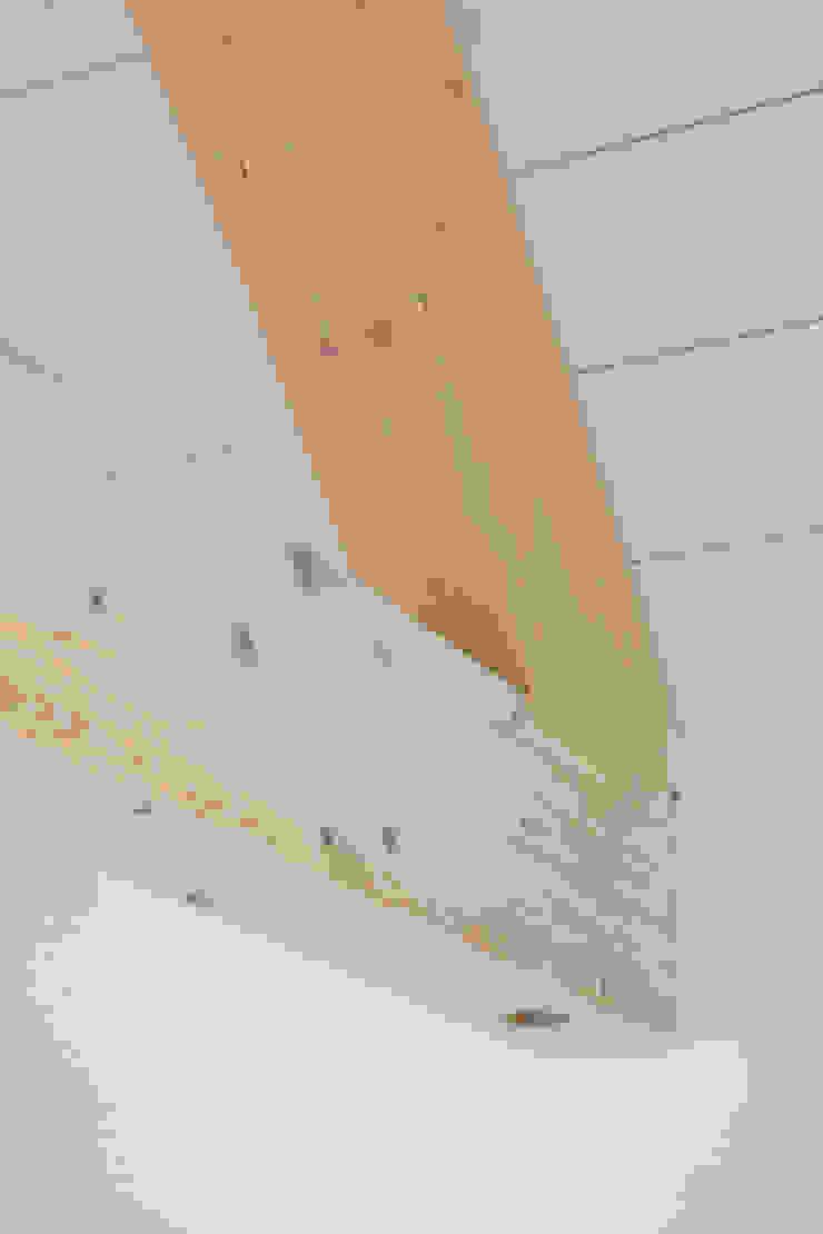 en coeur d'ilôt agence MGA architecte DPLG Couloir, entrée, escaliers minimalistes