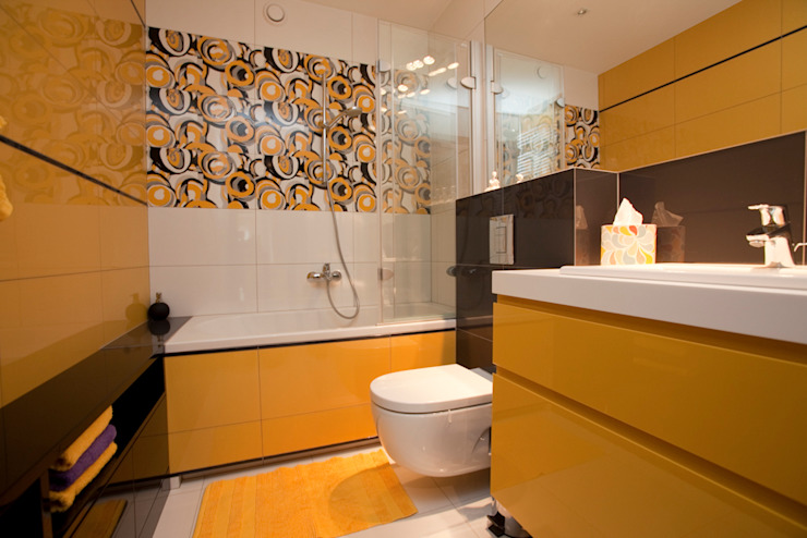 Mieszkanie dla Pani Doktor Nowoczesna łazienka od ZAWICKA-ID Projektowanie wnętrz Nowoczesny