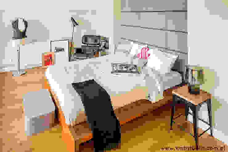 dom Kryspinów Nowoczesna sypialnia od kmb studio Nowoczesny