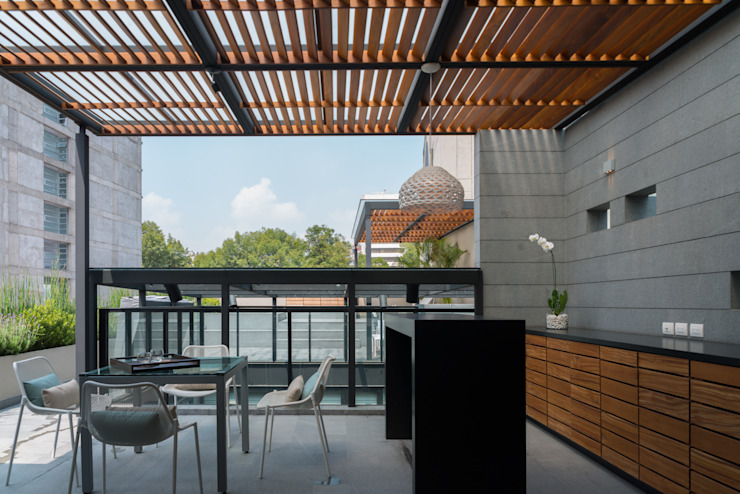 PH Andersen Balcones y terrazas modernos de Faci Leboreiro Arquitectura Moderno
