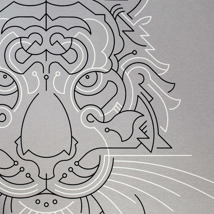 Tiger A2 screen print: modern  by The Lost Fox, Modern