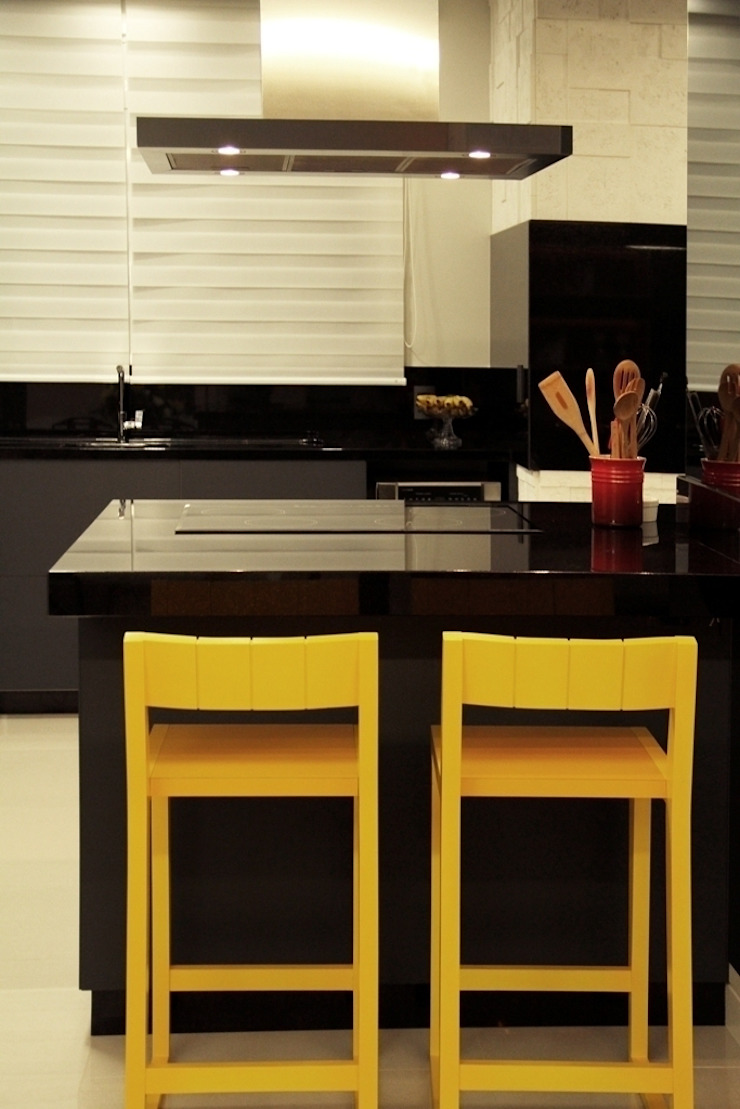 Projeto de Interior Área Social Apartamento Cozinhas modernas por Kubbo Arquitetos Moderno