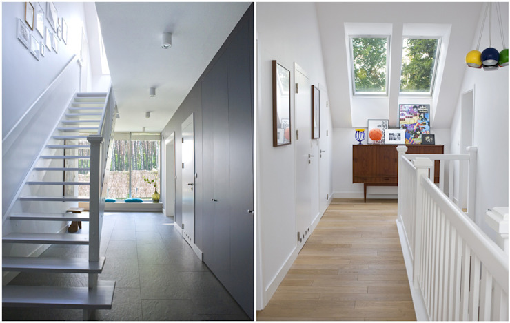 Scandinavian style corridor, hallway& stairs by MAKAO home Scandinavian