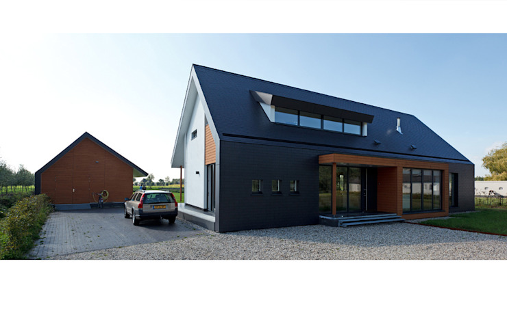 Passiefhuis R te Oijen:  Huizen door  Ariens cs, Architecten & Ingenieurs, Modern