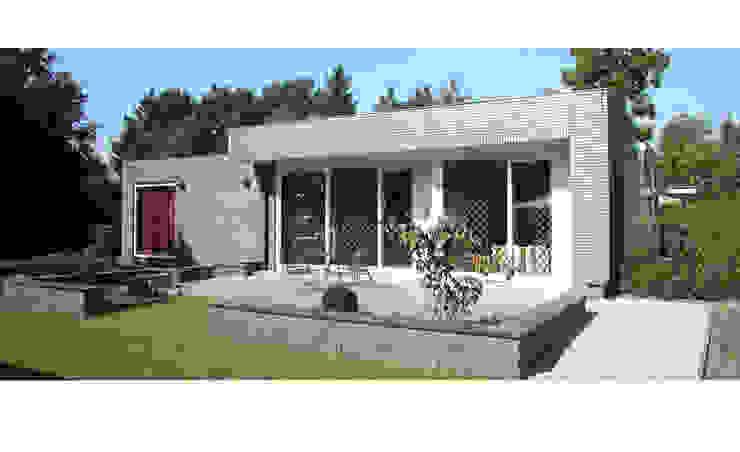 Villa M te Oss Moderne balkons, veranda's en terrassen van Ariens cs, Architecten & Ingenieurs Modern