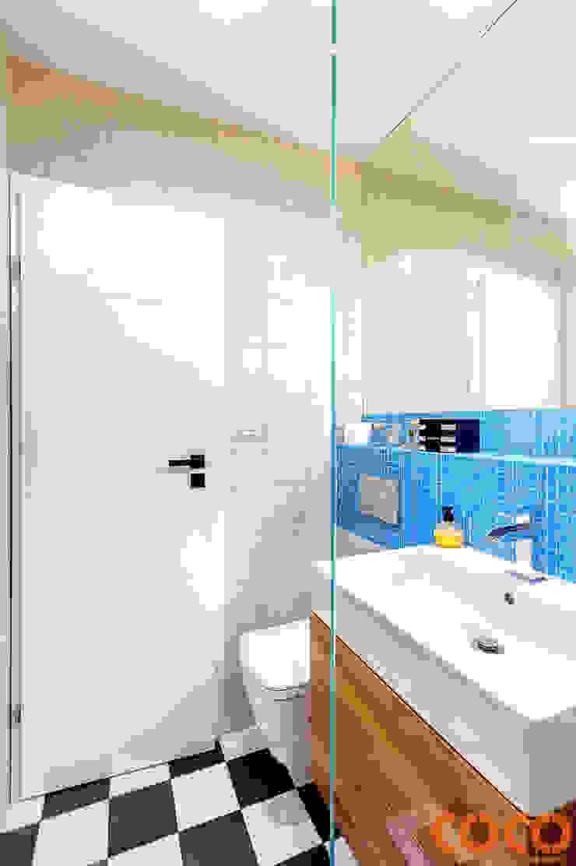 Retro Warszawa COCO Pracownia projektowania wnętrz Nowoczesna łazienka