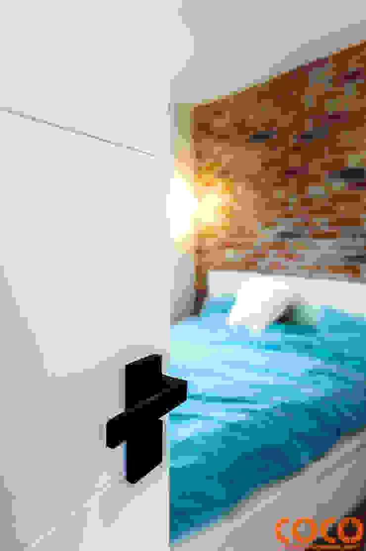 Retro Warszawa COCO Pracownia projektowania wnętrz Nowoczesna sypialnia