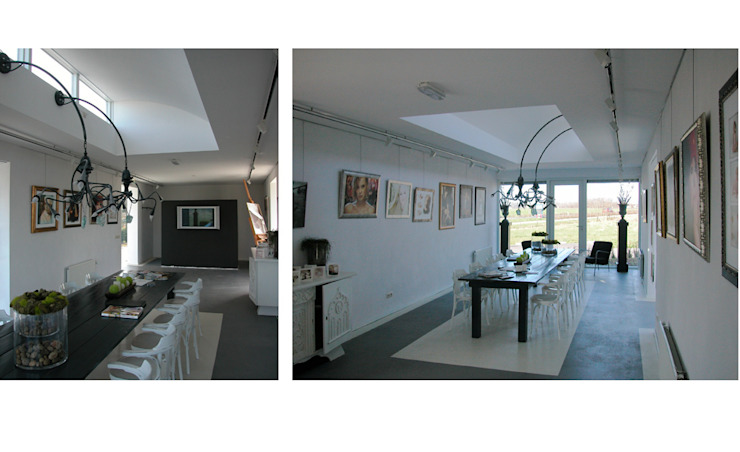 Fotostudio Janssen Colour Art Photo te Macharen Moderne exhibitieruimten van Ariens cs, Architecten & Ingenieurs Modern