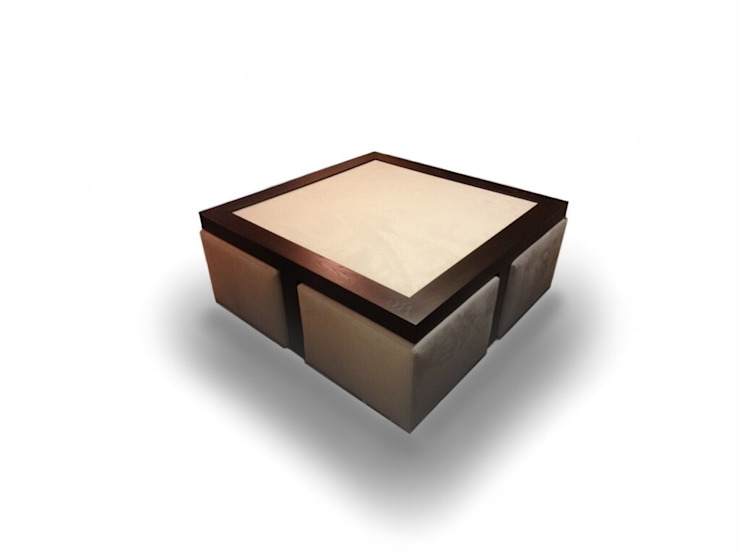 bespoke table and cubes: modern  by Chandler Upholstery, Modern