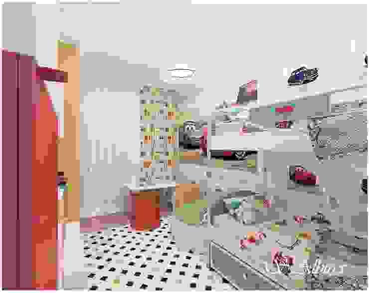 Дизайн -проект квартиры. г. Казань ЖК <q>Юит</q>. Детская комната в стиле модерн от студия авторского дизайна Альбины Сибагатулиной Модерн