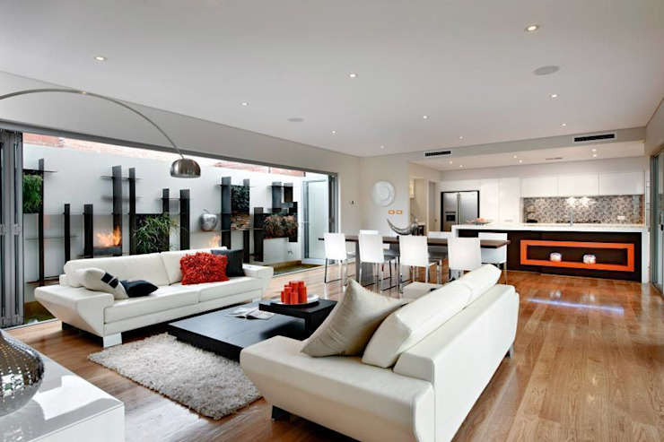 Living Rooms by Moda Interiors, Perth, Western Australia Modern living room by Moda Interiors Modern