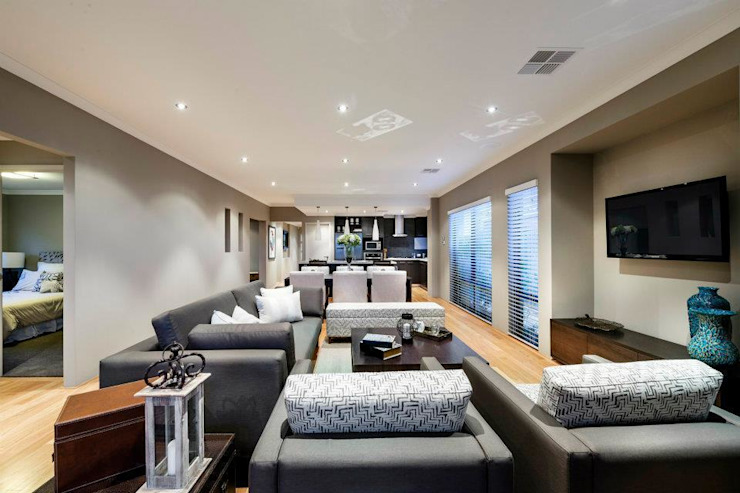 Living Rooms by Moda Interiors, Perth, Western Australia Classic style living room by Moda Interiors Classic