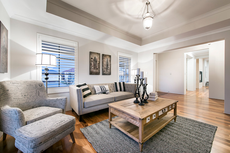 Living Rooms by Moda Interiors, Perth, Western Australia Eclectic style living room by Moda Interiors Eclectic