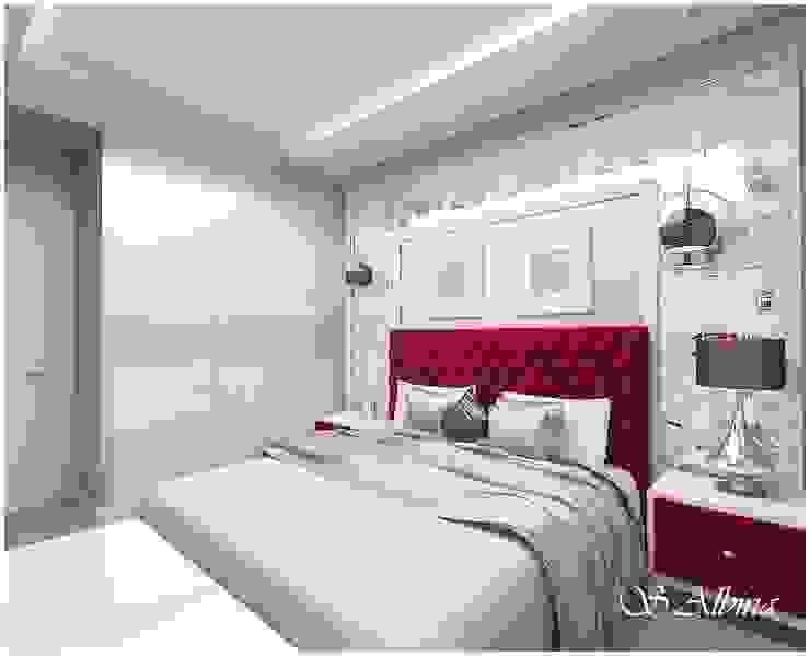 Дизайн -проект квартиры. г. Казань ЖК <q>Юит</q>. Спальня в стиле модерн от студия авторского дизайна Альбины Сибагатулиной Модерн