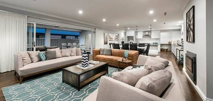 http://modainteriors.com.au/ Eclectic style living room by Moda Interiors Eclectic