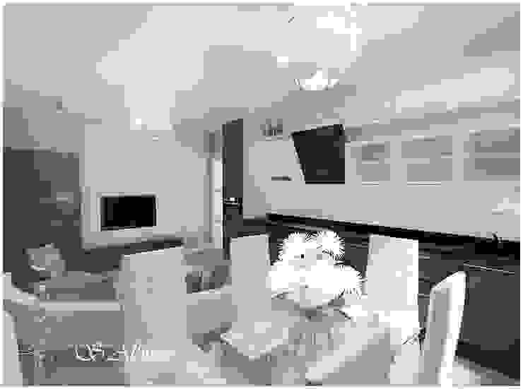 Дизайн -проект квартиры. г. Казань ЖК <q>Юит</q>. Кухня в стиле модерн от студия авторского дизайна Альбины Сибагатулиной Модерн