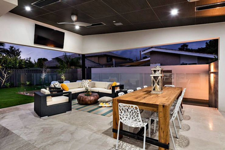 ​Alfresco, Outdoor Living, Patio, Deck by Moda Interiors, Perth, Western Australia Eclectic style balcony, veranda & terrace by Moda Interiors Eclectic