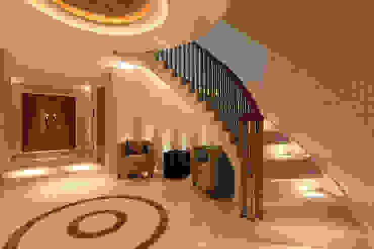 Contemporary home in England Modern corridor, hallway & stairs by Sarah Ward Associates Modern