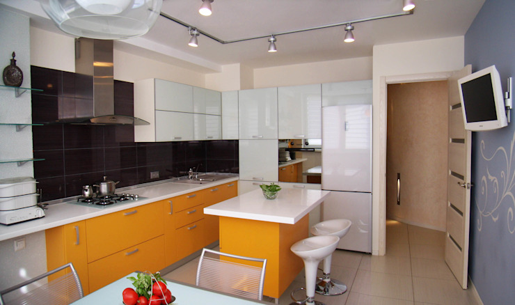 Интерьер квартиры в Черкассах Кухня в стиле модерн от дизайн-студия Олеси Середы Модерн