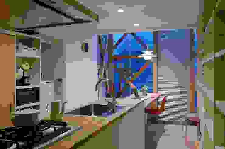 生野区 の長屋 - Row house of Ikunoku オリジナルデザインの キッチン の 林泰介建築研究所 オリジナル