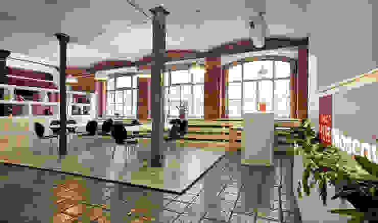 Impact HUB Moscow Офисные помещения в стиле лофт от Space for life Лофт