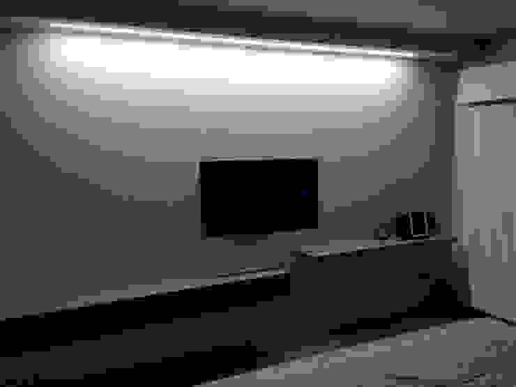illuminazione parete tv Laura Canonico Architetto Camera da lettoIlluminazione