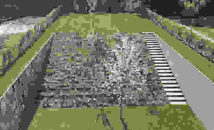 BBS094 I BRUXELLES, BE I JARDIN INCLINÉ Jardin minimaliste par Bureau Bas Smets Minimaliste