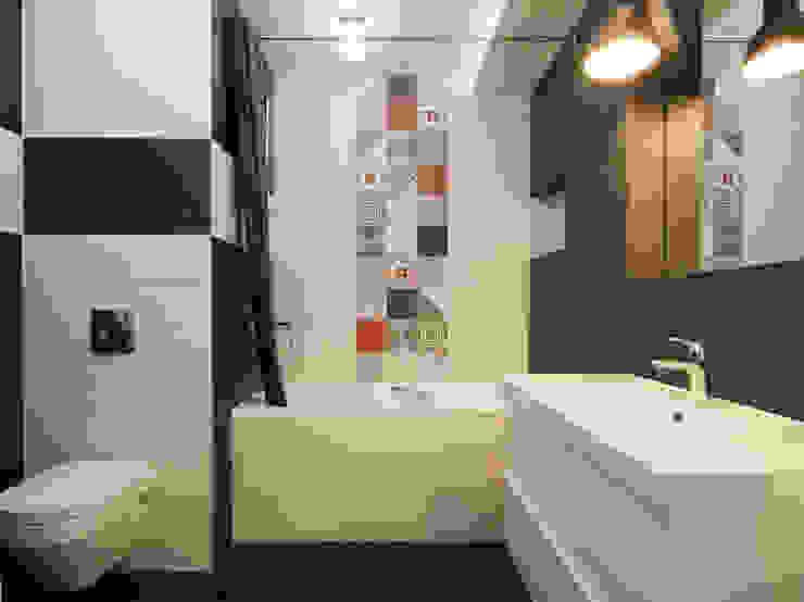Функциональная студия из типовой однушки ИП-46с для молодой пары Ванная комната в скандинавском стиле от Space for life Скандинавский