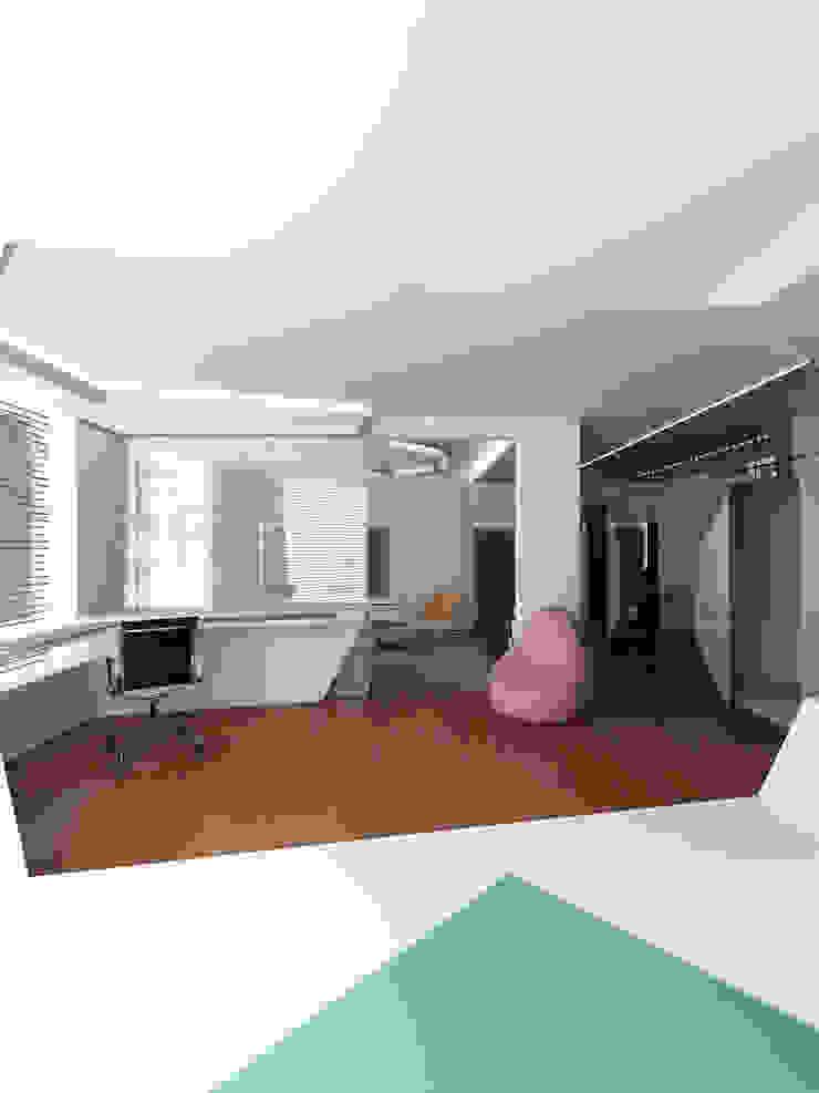 Кабинет Рабочий кабинет в стиле минимализм от (DZ)M Интеллектуальный Дизайн Минимализм