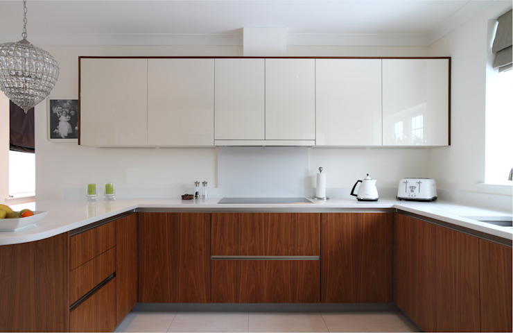 Contemporary kitchen Cozinhas minimalistas por John Ladbury and Company Minimalista