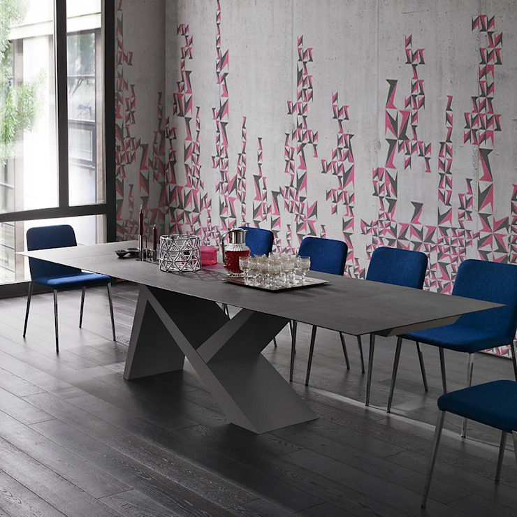 'Ikarus X' Contemporary fixed/extendible dining table by Sedit homify Dining roomTables