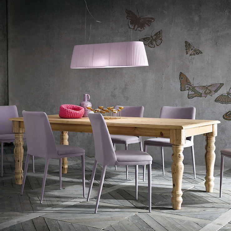 'Pascal' sabby chic aged fir table by Sedit homify Sala de jantarMesas