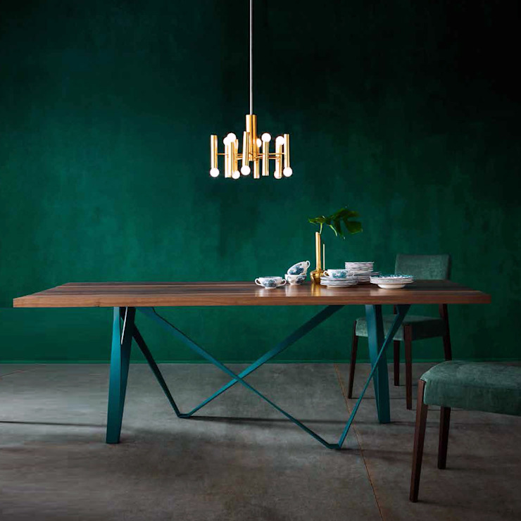'Wave' Extending table with woven effect by Sedit od My Italian Living Nowoczesny