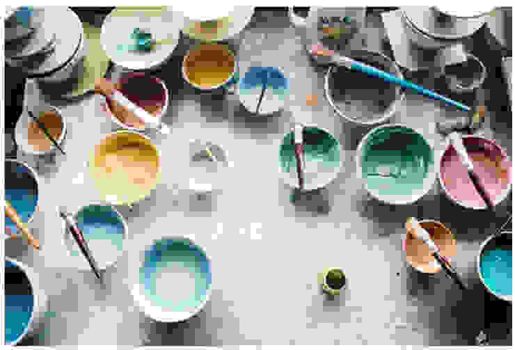 handbeschilderd keramiek, kleine oplages, vakwerk van Burra Burra Klassiek