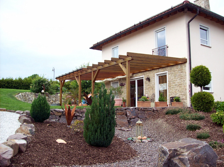 Veranda BEGO Holz und Stahl Mediterraner Balkon, Veranda & Terrasse